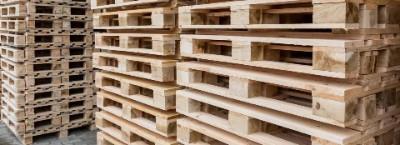 Pallets de madeira de eucalipto novos e usados